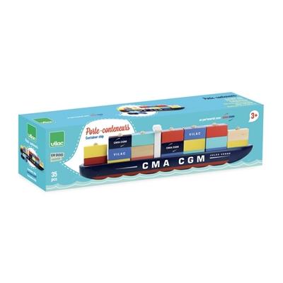 Houten Stapelspel Containerschip