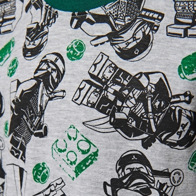 LEGO Wear Ninjago Pyjama grijs en groen