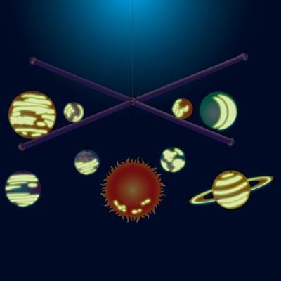 4M Kidzlabs Zelfbouwset Glow in the Dark Zonnestelsel