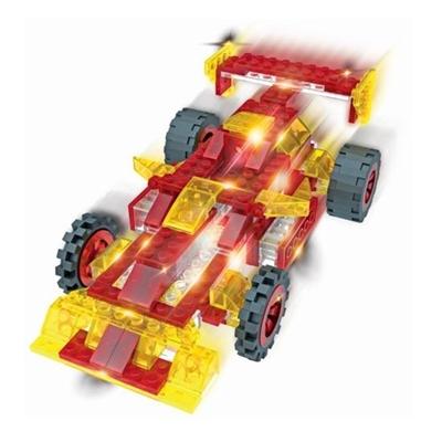 Lichtgevende Bouwset Racewagen 12 in 1