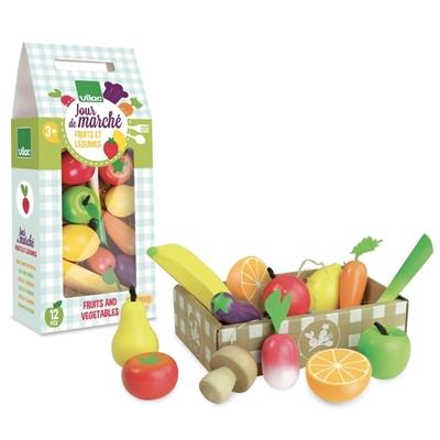 Houten Speelset Kratje Groenten en Fruit