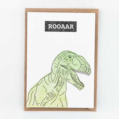 Postkaart Dino ROOAAR
