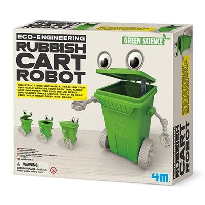 4M Zelfbouwset Gemotoriseerde Afvalbak Robot