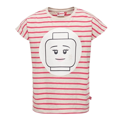 LEGO Wear Girls T-shirt Minifigure Streep roze