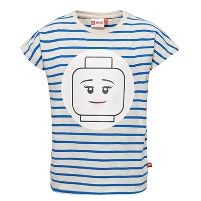 LEGO Wear Girls T-shirt Minifigure Streep blauw
