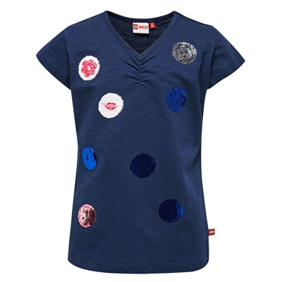 LEGO Wear Girls T-shirt Bollen met Swipe Effect blauw