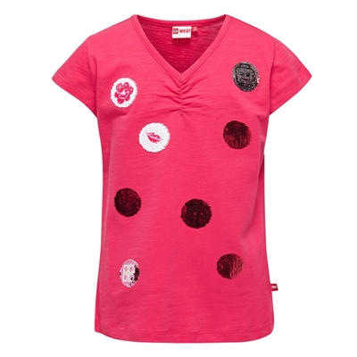 LEGO Wear Girls T-shirt Bollen met Swipe Effect roze