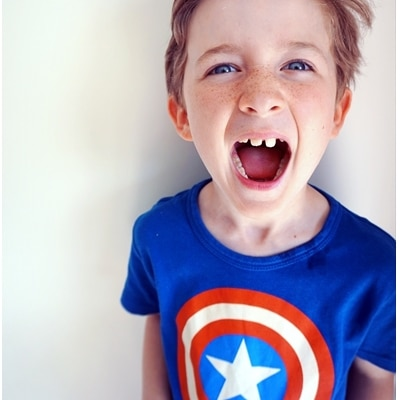 Kids T-shirt Schild Captain America