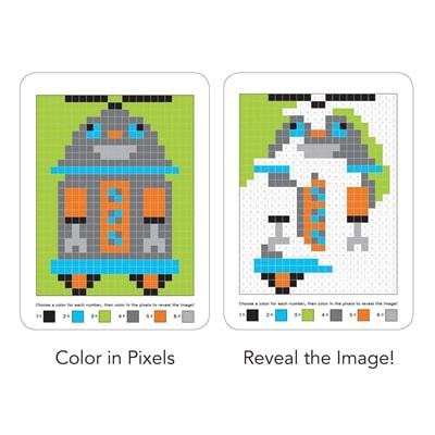Kleurboek Pixel Pictures Robots