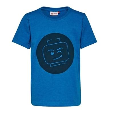 LEGO Wear Classic T-shirt Minifigure blauw